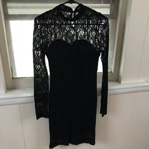 Black lace Top Shop form fitting dress